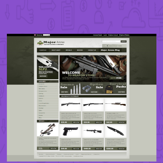 Guns and Ammo domain name for sale